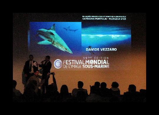 Blog2 Festival Davide Vezzaro foto premiazione1 Festival Mondial de l'image sous marine de Marseille 2012